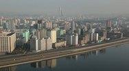 Pyongyang, City skyline, North Korea Stock Footage