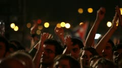 Crowd at concert - stock footage