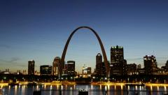 City of St. Louis Skyline, Missouri, USA - stock footage