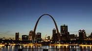 City of St. Louis Skyline, Missouri, USA Stock Footage