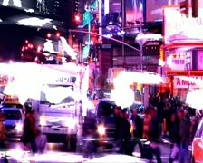 VJ19 vj loop of vj loop of Time's Square in radiant colors Stock Footage