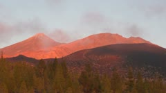 Sunset at mount Teide Stock Footage
