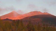Sunset at mount Teide - stock footage