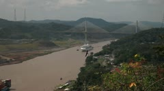 Panama view point with bridge Stock Footage