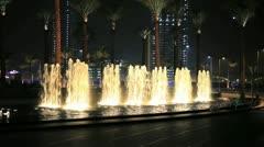 Dubai Fontain Stock Footage