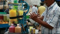 Manta ice cream Stock Footage