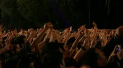 Crowd at rock concert showing middle finger Stock Footage