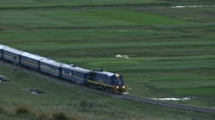Peru: Train from Cuzco - stock footage