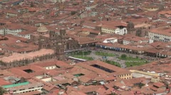 Peru: Wide Shot of Cuzco Plaza Stock Footage