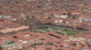 Stock Video Footage of Peru: Wide Shot of Cuzco Plaza