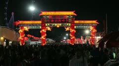 River Hongbao Chinese New Year, Singapore Stock Footage