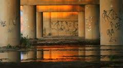 Urban Graffiti Bridge  ED Stock Footage