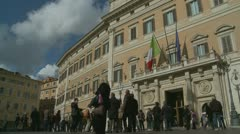 Berlusconii resigns (1) Stock Footage