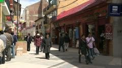 Peru: Pedestrian Street in Puno - stock footage