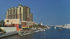 Destin harbor and harbor walk resort area Stock Footage