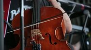Stock Video Footage of Musician playing on a contrabass