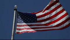 922 American Flag generic five Stock Footage