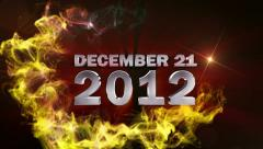 DECEMBER 2012 Text in Particle (Double Version) - HD1080 Stock Footage