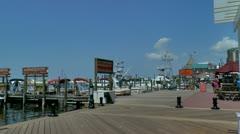 Destin harbor marina area Stock Footage