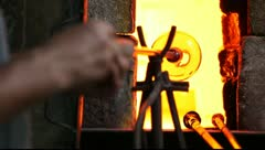 Glass Workshop – Studio Glass Sculpture – Atelier – Camera Raw - stock footage