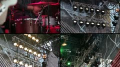 Concert stage - stock footage