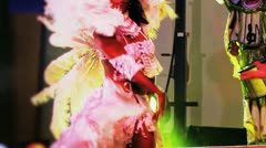 Colored Brazilian Dancer Stock Footage