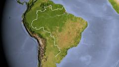 Brazil, zooming into large view - stock footage