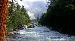 Merced River In Yosemite National Park In Spring - stock footage