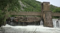 Old 20th century Dam _10 Stock Footage