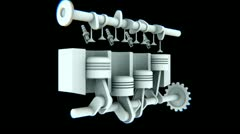 Stylish CG engine (HD+Loop) Stock Footage