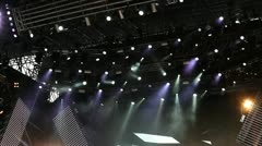Lighting system on stage Stock Footage