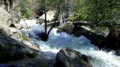 Water In Creek Rushing Down Mountainside Stock Footage