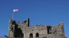 Stock Video Footage of Castle England Flag