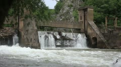 Old 20th century Dam _9 Stock Footage