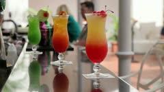 Singapore Sling Cocktail  Raffles Hotel, Singapore Stock Footage