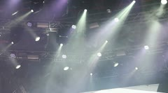 Lighting system on stage - stock footage