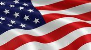5k High Resolution USA Flag Stock Footage
