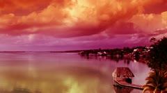 Bacalar lagoon caribbean mexico Stock Footage