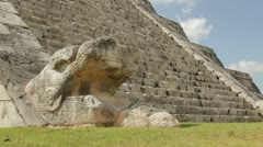 Chichen Itza Pyramid - stock footage