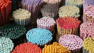 Colourful decorative Chopsticks, Singapore Stock Footage