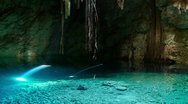 Stock Video Footage of cenote crystal water sinkhole mexico