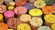 Colourful decorative Chopsticks, Singapore Stock Footage