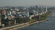 Pyongyang, City Centre, Kim Il Sung Square,  North Korea Stock Footage