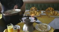 Stock Video Footage of crepe suzette french chef classic