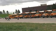 Stock Video Footage of 120523 children loading buses 1