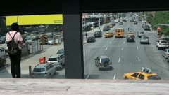Tourists at the Highline in Manhattan New York Stock Video - stock footage