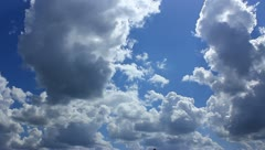 The lighted rainy clouds time lapse Stock Footage