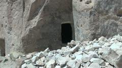 Chile Atacama Valle de Jere cliff entrance Stock Footage