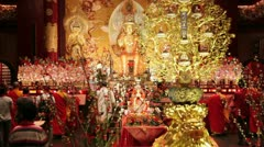 New Buddha Tooth Relic Temple and Museum, Singapore Stock Footage