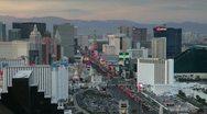 Casinos on The Strip, Las Vegas, Nevada Stock Footage